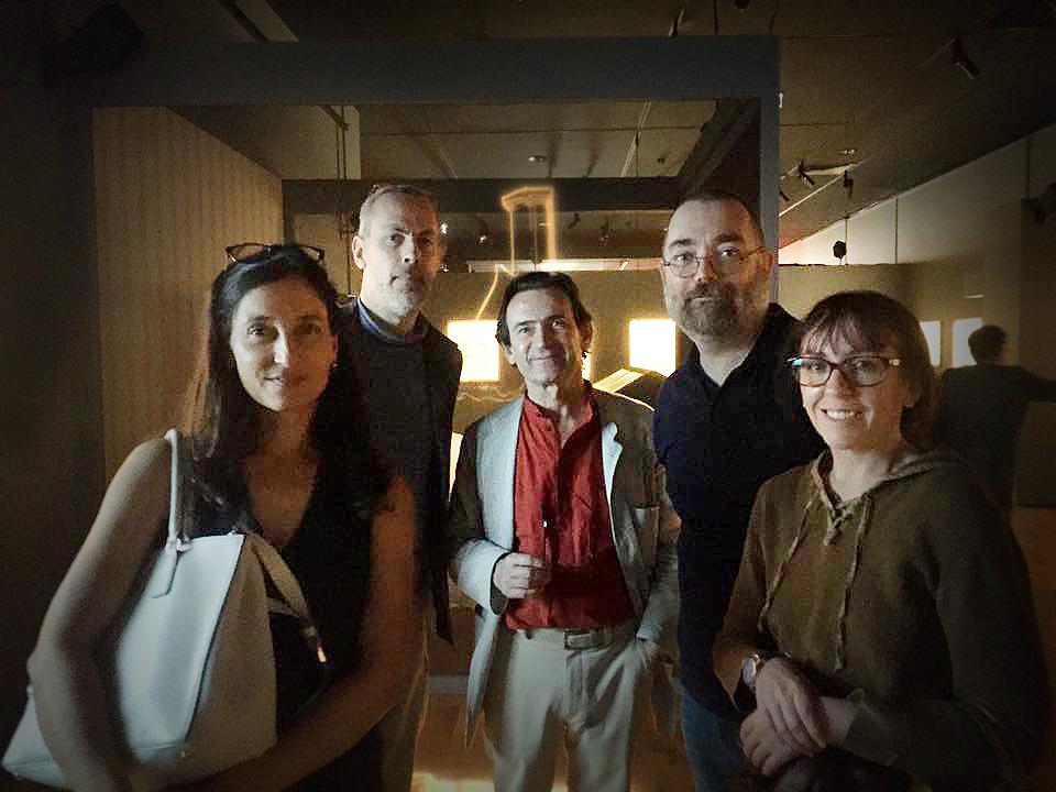 De gauche à droite Daria Schmitt, Fabrice Neaud, Benoit Peeters, votre serviteur et Valérie Mangin.